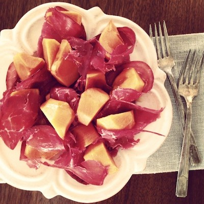 persimmon-bresaola