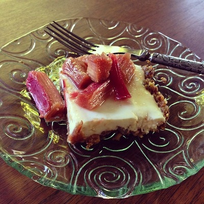 torta de ruibarbo