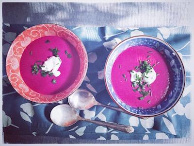 Pollock's borscht